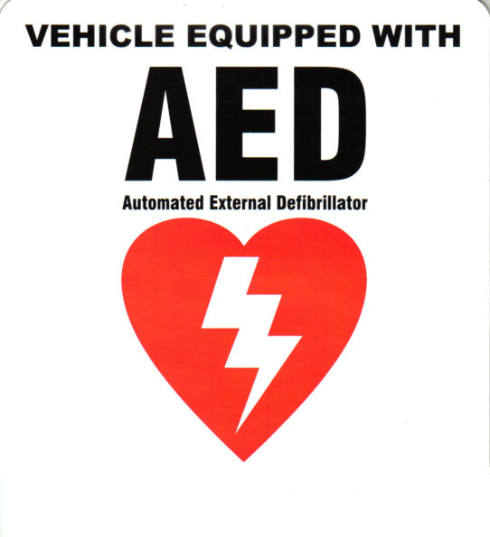 AED Vehicle Sticker