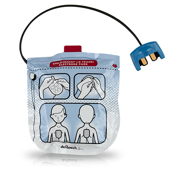 Defibtech Lifeline View Paediatric Defibrillation Pads Package