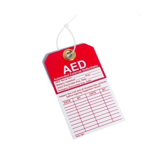 defibrillator maintenance & inspection tag