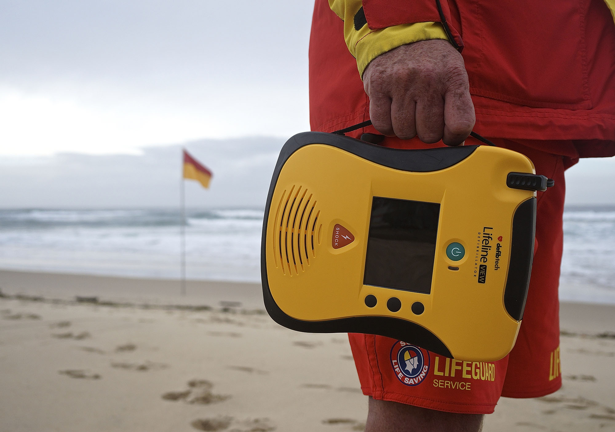 priority first aid lifeline view on beach