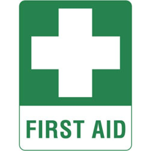 first aid kit wall sign